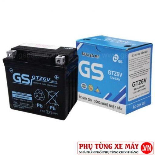 Bình ắc quy gs gtz6v - 1
