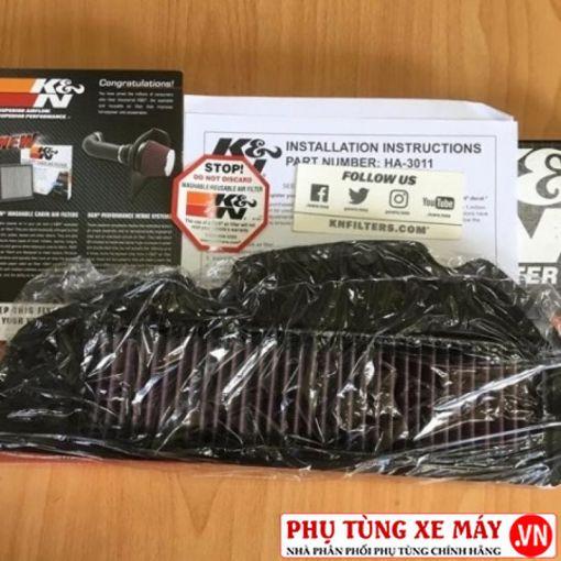 Lọc gió K&N HA-1213 chính hãng cho Click, Vario, SH Mode, PCX (loại đèn led)