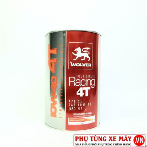 Nhớt Wolver Racing Synthetic 10W40