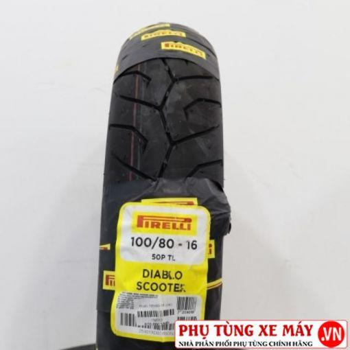 Vỏ Pirelli 100/80-16 Diablo Scooter
