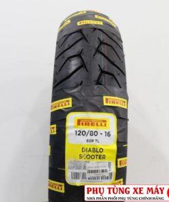Vỏ Pirelli 120/80-16 Diablo Scooter