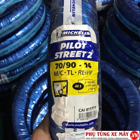 Vỏ Michelin 70/90-14 Pilot Street 2